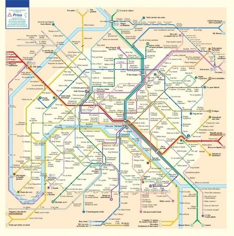 Le plan des stations du métro de Paris en anagrammes | Arts et FLE | Scoop.it