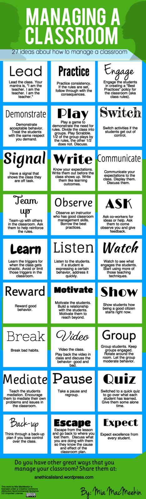 27 Tips For Effective Classroom Management - Edudemic   21st century skills   Scoop.it