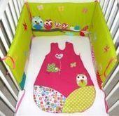 Gigoteuse et tour de lit  aux oiseaux printaniers | Parce que chaque bébé est unique... | Scoop.it