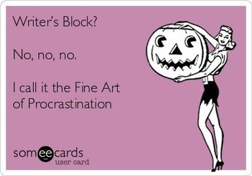 Writer's Block and the Fine Art of Procrastination | Unplug | Scoop.it
