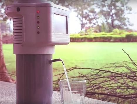Incredible 3D printed gadget turns air into drinking water   Unlimited pure water from the air   Scoop.it