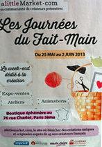 les Journées du Fait-Main - Marais.Evous.fr | Fait-main | Scoop.it