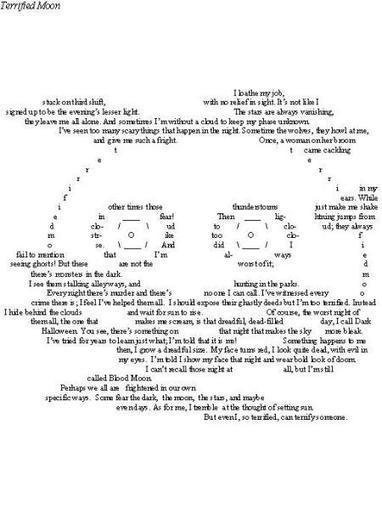 Terrified Moon | ASCII Art | Scoop.it