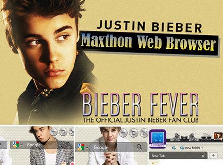 Justin Bieber Website  Fans on Justin Bieber  Navigateur Web Gratuit Pour Fans  Pc  Android