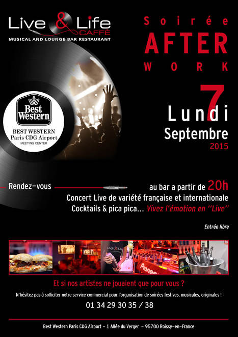 "Soirée After-Work au Best Western CDG Airport | Office de Tourisme ""Roissy, Clé de France"" 