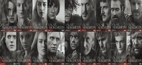 """Game of Thrones Season Character Poster """"Valar Morghulis"""" - cool spoiler for all time 