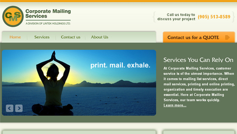 PHP based Printing, Direct Mailing Website | Portfolio | Scoop.it