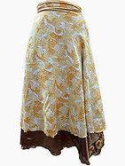 Easy Breezy Silk Sari Wrap Skirt Yellow Gold | Bohemian Harem Pant | Scoop.it