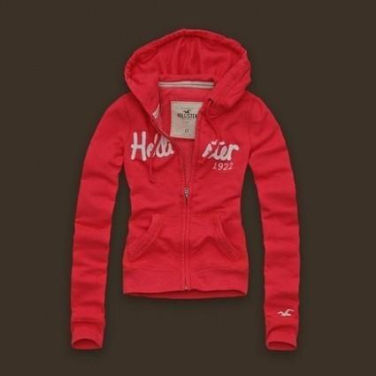 2013 Hollister Naiset Vetoketjulla Hupparit H62 Punainen Joulumyyjäiset | holliter world | Scoop.it