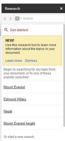 Research Sidebar in Google Docs   Learning Science and Research   Scoop.it