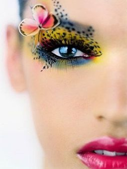Amazing and Colorful Butterfly Eye Makeup | At Home Beauty Treatments | Scoop.it