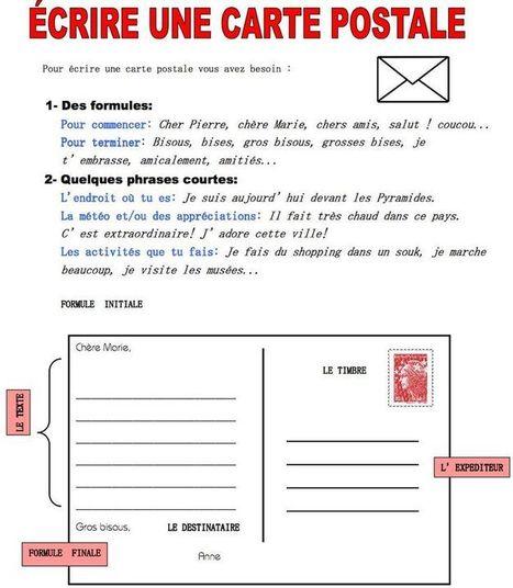 Écrire une carte postale | Français extr@ | Scoop.it