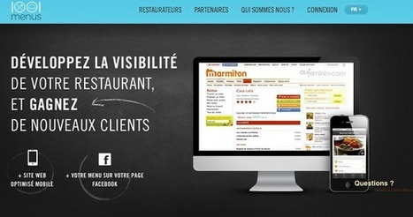 Les restaurateurs passent en 2.0 avec 1001menus | Marketing & Technology | Scoop.it