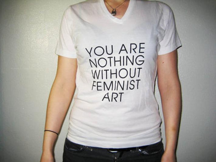 Small Feminist Art V Neck by MODERNWOMEN on Etsy | Dare To Be A Feminist | Scoop.it