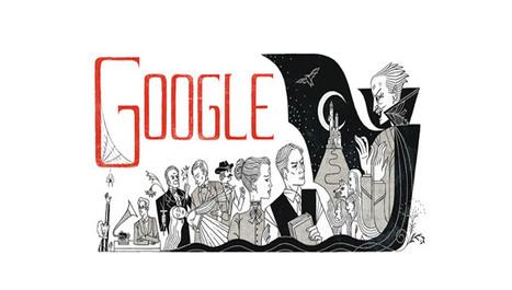 Il doodle di Google è per Bram Stoker e il suo Dracula | InTime - Social Media Magazine | Scoop.it