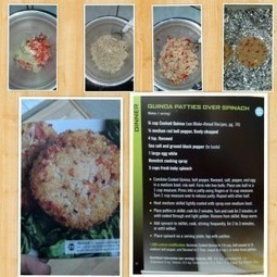 Coach Timi   Quinoa Patties Over Spinach   T-Fit Fitness and Nutrition   Scoop.it