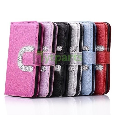 PU Leather Silk Pattern Bling Wallet Case for Samsung Galaxy S5 | Fixing or DIY our cell phones by ourselves | Scoop.it