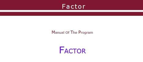 Lorenzo-Seva & Ferrando | Factor Analysis | Psychometrics | Scoop.it