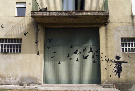 Surreal Paintings and Street Art by Pejac - Laughing Squid | creative photography | Scoop.it