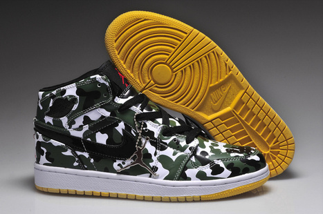 Air Jordan 1 Camo Green Yellow 131007-101 Cheap for Sale | nice day | Scoop.it