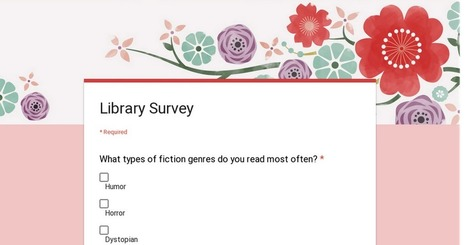 Library Survey | BLMS Library Stuff | Scoop.it