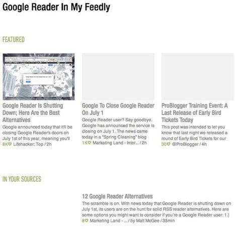 Google Reader Alternatives: 3 Web Based RSS Readers to Try | Digital Strategies for Social Humans | Scoop.it