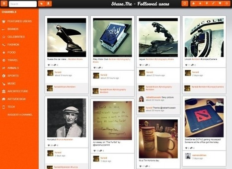 Browse Instagram In A Beautiful Pinterest-Like Layout With Share.me | ipad | Scoop.it