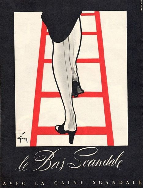 1952 Scandale stockings print ad | Antiques & Vintage Collectibles | Scoop.it