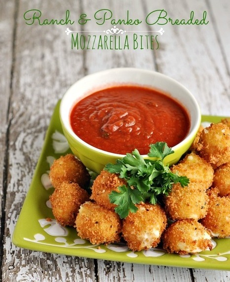 #Recipe / Hidden Valley Ranch & Panko Mozzarella Bites Recipe   Recipes   Scoop.it