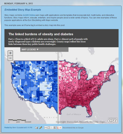 Embedding Story Maps into websites and blogs | ArcGIS Resources | ArcGIS Geography | Scoop.it