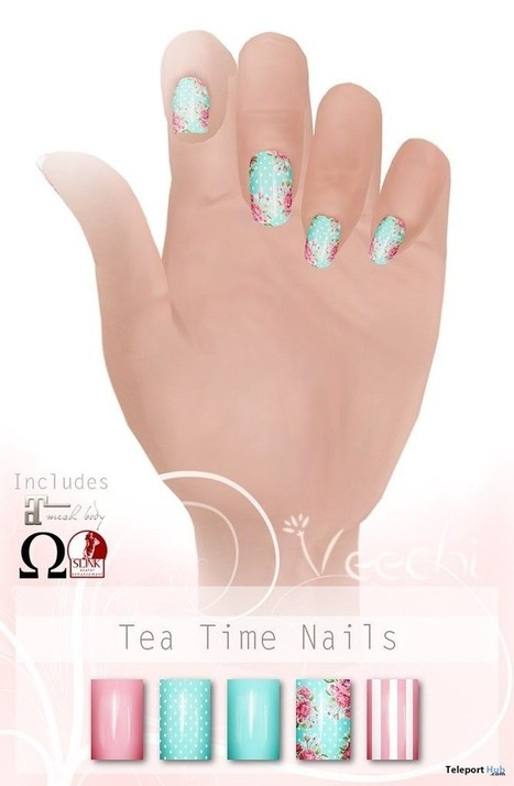 Tea Time Nails Group Gift by Veechi | Teleport Hub - Second Life Freebies | Second Life Freebies | Scoop.it