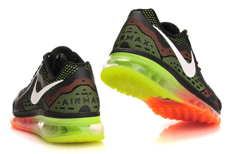 Nike Air Max 2014 Black Orange Fluorescent Green Shoes Cheap Now | nice day | Scoop.it