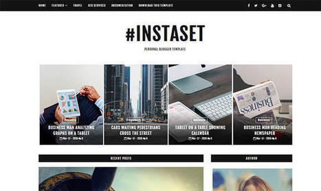 Instaset Blogger Template | Pro Templates Lab | Scoop.it