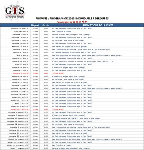 GUIDES TOURISME SERVICES | LE PROGRAMME DES VISITES GUIDEES 2013 | Scoop.it