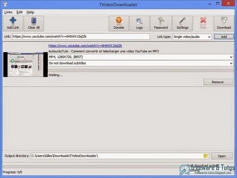 TVideoDownloader : un logiciel gratuit pour télécharger les vidéos du web | Time to Learn | Scoop.it