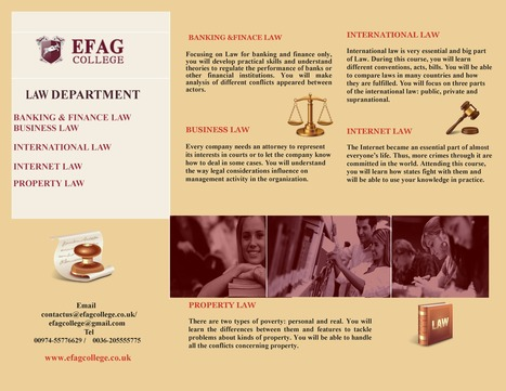 Learn Law at EFAG College | New Accredited Courses Online - EFAG College | Scoop.it