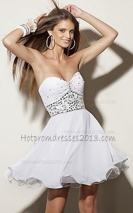 2013 Strapless Sweetheart Short White Prom Dress [2013 White Short Prom Dress] - $135.00 : Discount Dresses for Prom 2013,Up 50% Off | prom dress | Scoop.it