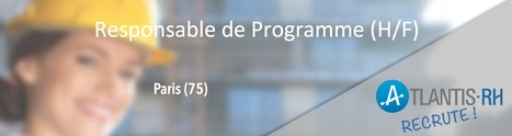 Responsable de Programmes (H/F) | Emploi #Construction #Ingenieur | Scoop.it