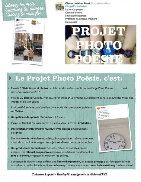 [Du 4 janvier au 26 février 2016] #ProjetPhotoPoésie avec #Twitter des créations textes-images-musique par @catlap78 | ent, tbi & tablettes: usages pédagogiques | Scoop.it