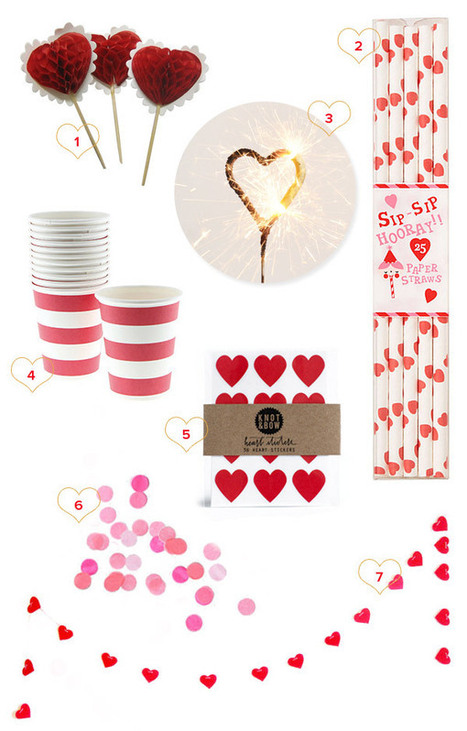Valentine's Day Party Supplies - Oh Happy Day!   Valentines Day   Scoop.it