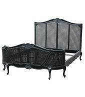 French Black Noir Rattan Bed | Interiors | Scoop.it