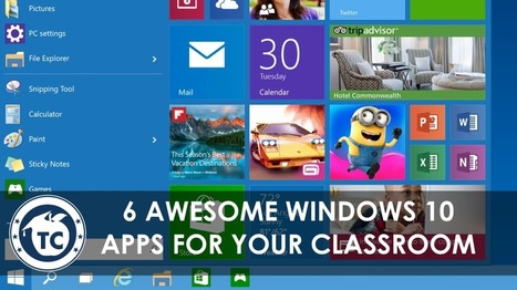10 Great Educational Apps for the new Windows 10 ^ TeacherCast ^ by Jeffrey Bradbury | Into the Driver's Seat | Scoop.it