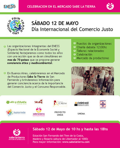 ENESS celebra el día del Comercio Justo en Argentina | Portal de Economía Solidaria | ECONOMIA SOCIAL Y TERRITORIOS INTELIGENTES | Scoop.it