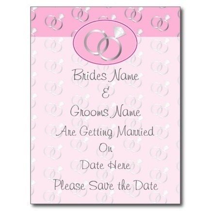 Pink Wedding Rings Pattern Save the Date | Handmade Quality Items | Scoop.it