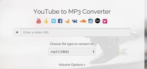 ConvertToAudio. Récupérer le son d'une vidéo YouTube - Les Outils du Web | outils numériques pour la pédagogie | Scoop.it