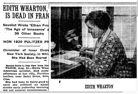 Edith Wharton, 75, is Dead in France, August 11, 1937 | Learning, Teaching & Leading Today | Scoop.it