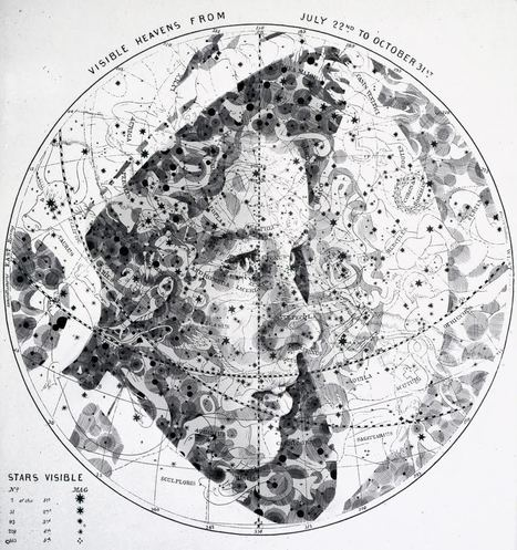 New #Portraits Drawn on #Maps and #Star #Charts by Ed Fairburn #art #portraiture | Luby Art | Scoop.it