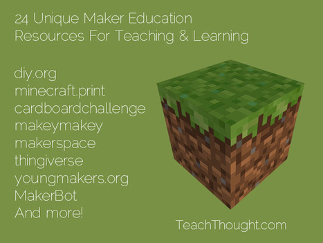 24 Unique Maker Education Resources For Teaching & Learning - TeachThought | fun learning | Scoop.it
