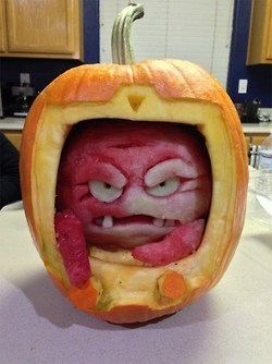 A watermelon Krang inside of a pumpkin body. One... | All Geeks | Scoop.it