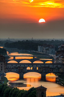 travelingcolors: Sunset over Arno, Florence |... | Movin' Ahead | Scoop.it